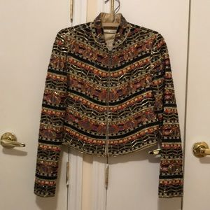 Alice + Olivia Fully Beaded Jacket